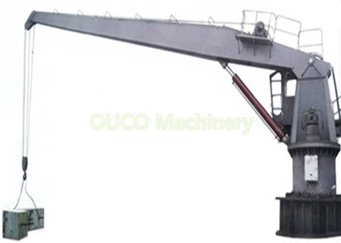 Anti - Collision Fixed Boom Crane Diesel Hydraulic Drive With ABS Class